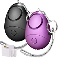 TOODOO 130db Personal Security Alarm Keychain, Safesound Safety Emergency Alarms for Women, Kids and Girls, Self Defense Electronic Device as Bag Decoration