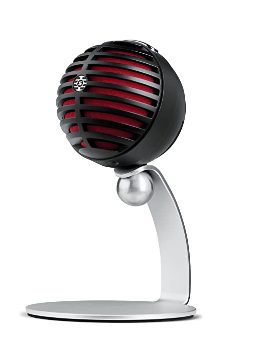 9 opinioni per Shure MV5 Microfono Digitale a Condensatore, USB e Cavo Lightning, Nero