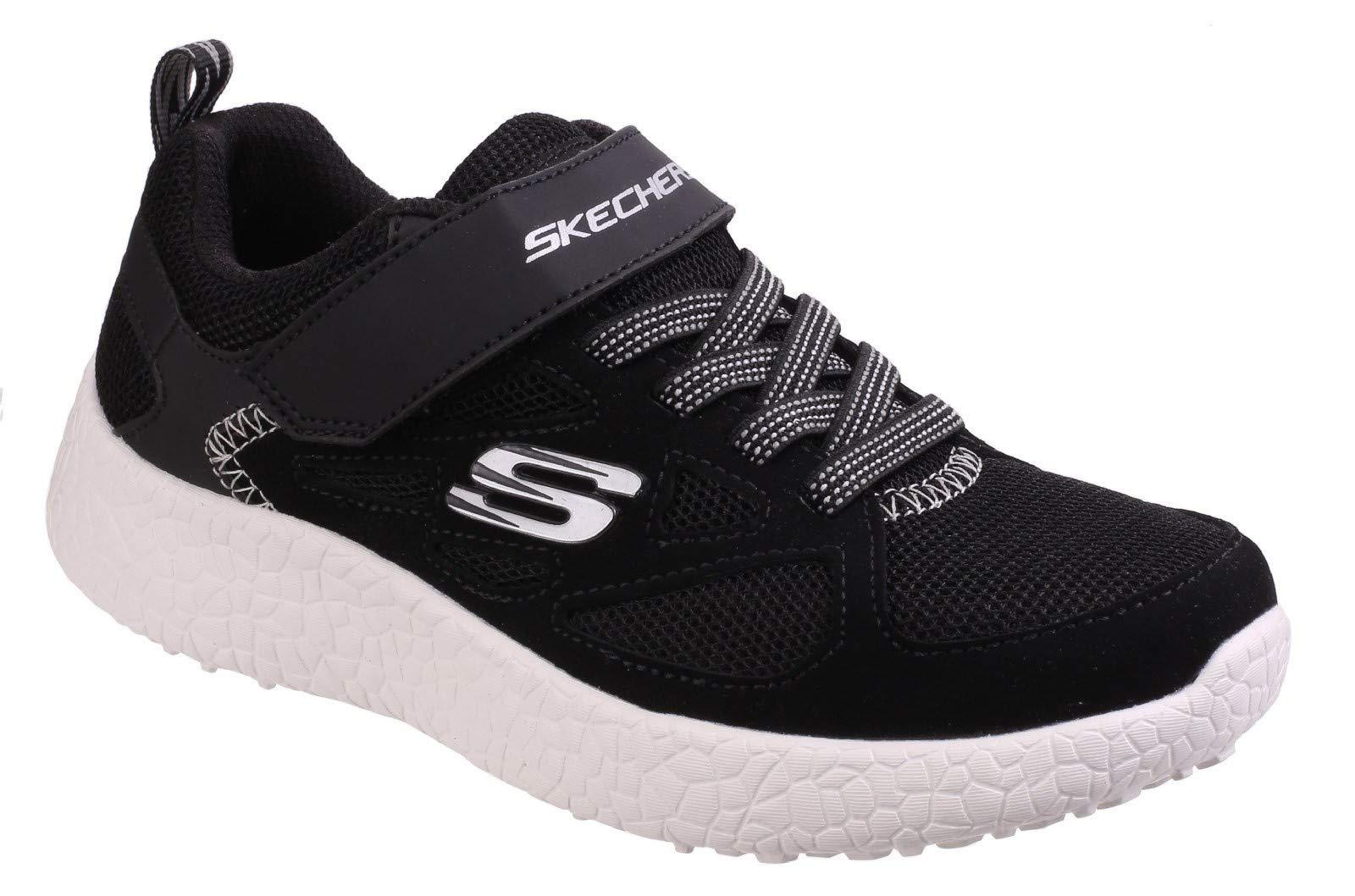 Skechers Boys' Burst Power Sprints Sneaker,Black/White,US 13.5 M