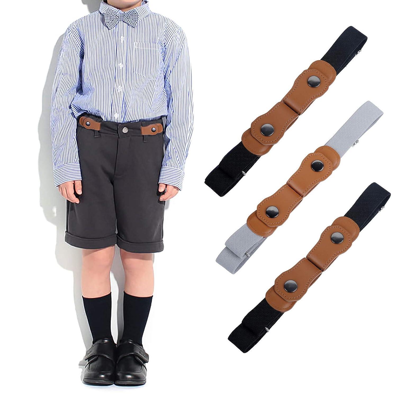 ragazzi e ragazze Cinture elastiche invisibili regolabili per neonati//bambini WELROG Cinture elastiche senza fibbia per bambini