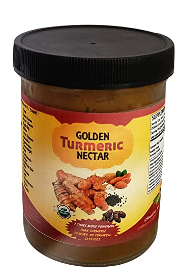 Golden Turmeric Nectar – Healthy, Anti-Inflammatory Paste Made from raw  Organic Turmeric for