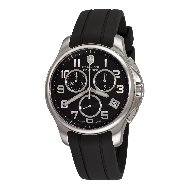 Victorinox Swiss Army Herren 241452 Officers Chrono Black Dial Uhr