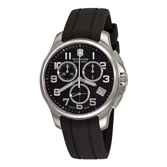Victorinox 241452 - Reloj de Pulsera Hombre, Caucho, Color Negro
