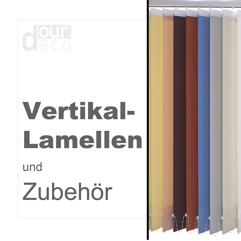 Ourdeco® Komplett-Vertikalanlage Breite  250 cm Höhe  250 cm Farbe  hellgrau Lamellenbreite 127 mm in der Höhe kürzbar Decken- oder Wandmontage