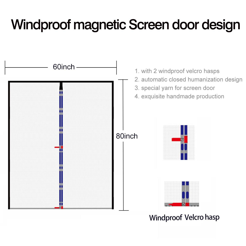 Double Door Screen 60 Wide Mega Mesh 60 X 80 Fit Doors Size Up To