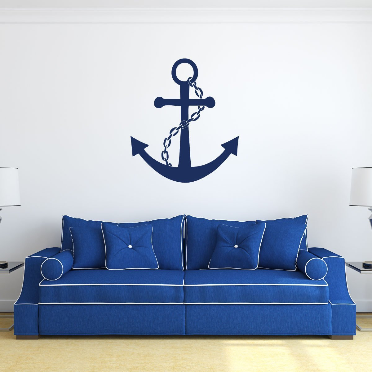 Amazon anchor wall decal vinyl sticker personalized large amazon anchor wall decal vinyl sticker personalized large nautical ocean symbol home decoration for us navy marines boys room or kids playroom amipublicfo Image collections