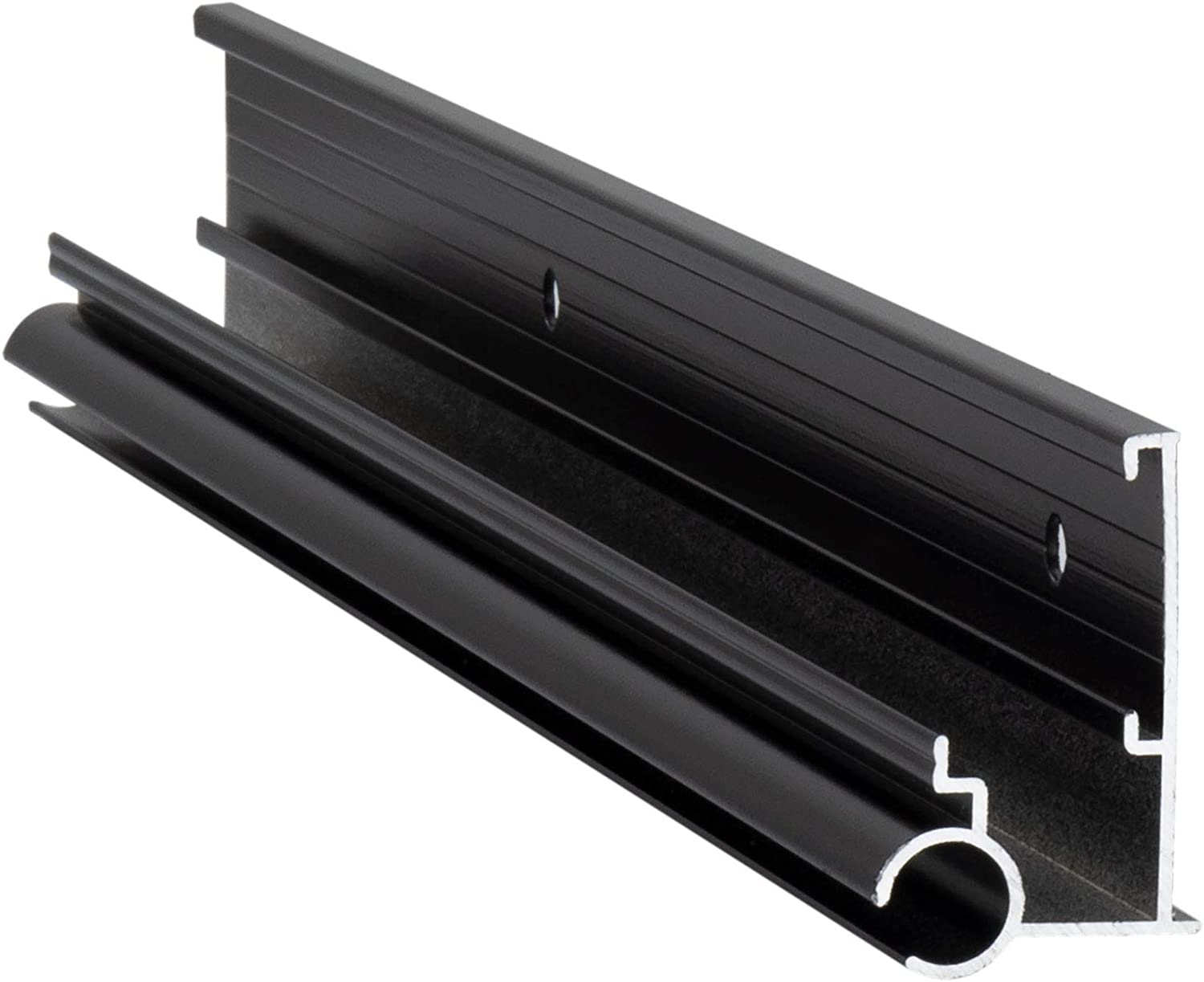 Made in USA 2 Trim Pieces, Black Aluminum 92 Length RecPro RV Awning Trim with Gutter