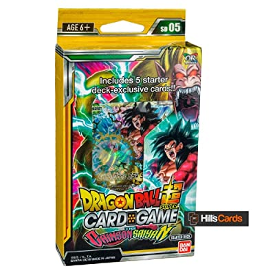 Dragon Ball Super The Crimson Saiyan Deck Series 4 Colossal Warfare: Toys & Games