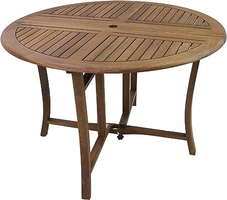 Eucalyptus 43 Inch Round Folding Deck Table