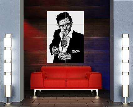 Amazon.com: JOHNNY CASH UNIQUE TATTOO ICON GIANT ART PRINT WALL ...