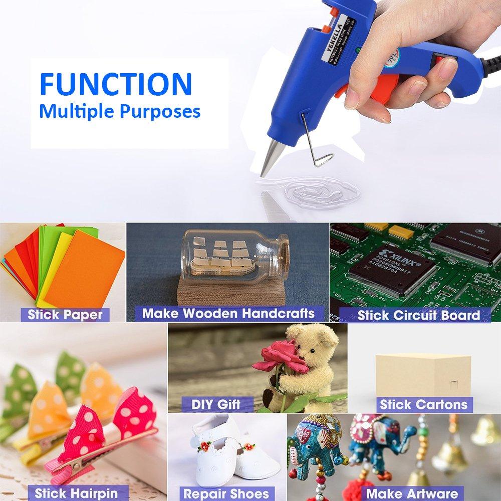 Hot Glue Gun 100 Watt Melt With 15pcs Transparent Circuit Board Sticks For