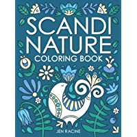 Scandi Nature Coloring Book: Easy, Stress-Free, Relaxing Coloring for Everyone