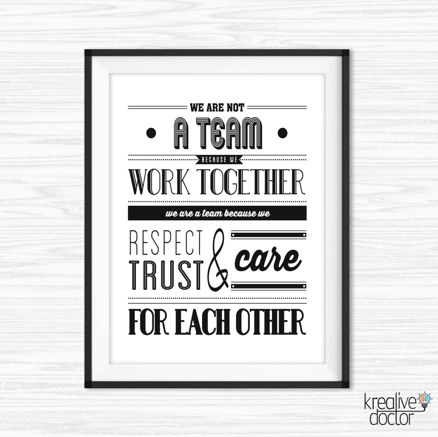 TimPrint Teamwork Quotes For Office Wall Art Success Quotes Motivational Wall Decor Inspirational Quote For Work Office Wall Quotes Framed print