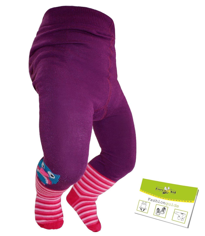 Maximo Medias Del Bebé Pantys Las Niñas Leotardos De Algodón 3D Diseño Búho Rayas (MX-65246-236000-W16-BM0) incl. EveryKid-Fashionguide