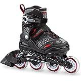 Bladerunner by Rollerblade Phoenix Boys Adjustable Fitness Inline Skate, Black and Red, Junior, Value Performance Inline Skat
