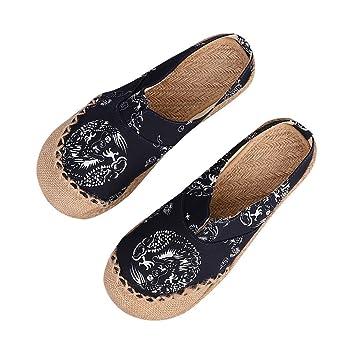 Plástico botas chinas de Totem cuerda Lino para Alpargata Guantes Cómodo Slipper Verano de cáñamo de ocio con diseño étnico cáñamo Guantes, lino, ...