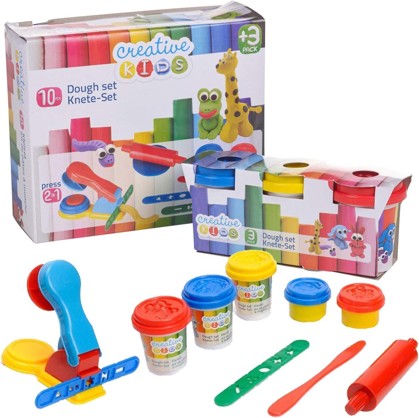 Plastilina Modellante Kit da 10 Pezzi Pasta Plastichina Play Dough con Accessori