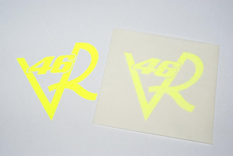Rapro Graphics Vr-46 Valentino Rossi Visor Decals/Stickers Flo Yellow