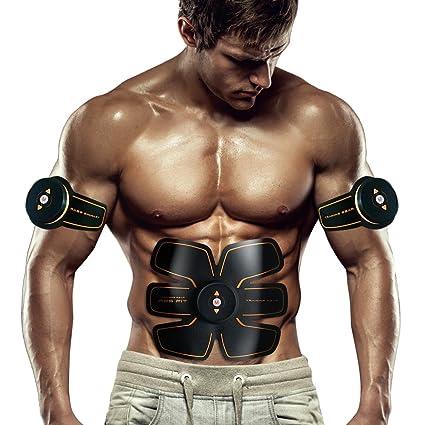 SHENGMI Abdominale Appareil Unisexe,ABS Smart Ceinture Abdominale  d électrostimulation Massage Musculaire Bras Multiple Endroit Fitness AB ou  Cuisses ... 00a02eee1d4