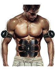 SHENGMI Abdominale Appareil Unisexe,ABS Smart Ceinture Abdominale d'électrostimulation Massage Musculaire Bras Multiple Endroit Fitness AB ou Cuisses Entraînement