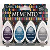 Tsukineko Memento Dew Drops Fade Resistant 4-Pack Dye Inkpads Assortment, Dolphin Play