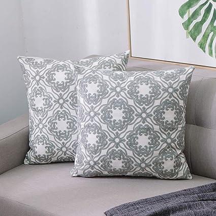 UK/_ Warm Green Leaf Linen Cushion Cover Zipper Pillow Case Home Car Decoration E