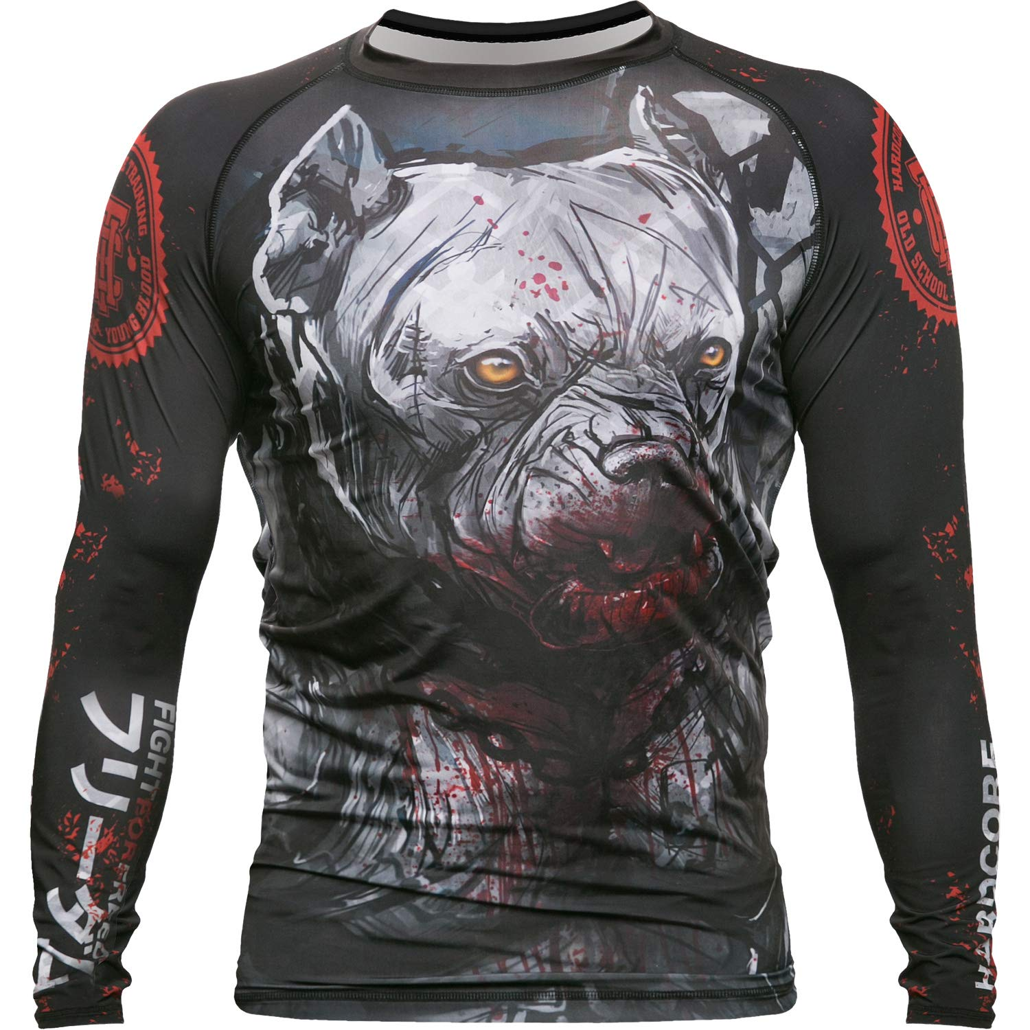 Rash guard Compression mma boxing grappling training gym workout long sleeve