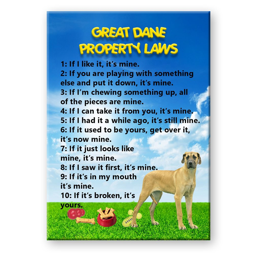 Great Dane Property Laws Fridge Magnet No 5