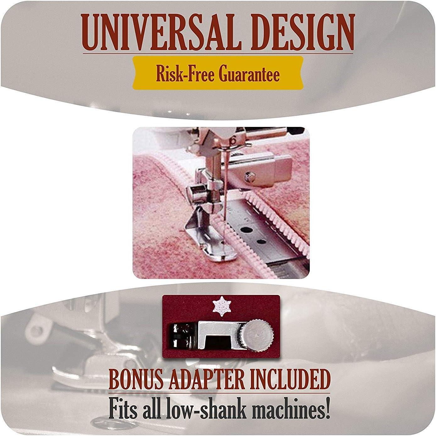 Máquina de coser prensatelas pies Set, Universal bajo filo prensatela pies para acolchado cremallera, inserción y más (32 pcs): Amazon.es: Juguetes y juegos