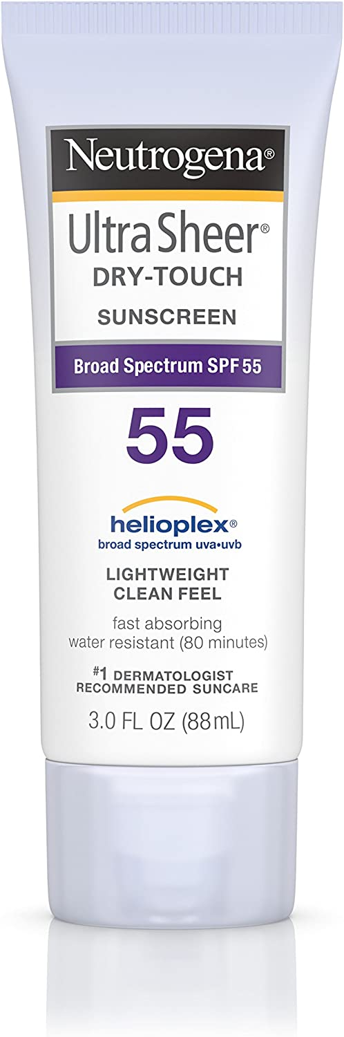 Neutrogena Ultra Sheer Dry-Touch Sunscreen Broad Spectrum SPF 55, 3 fl. oz.
