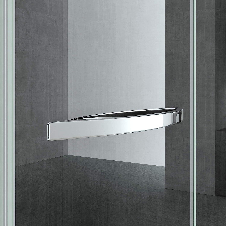 doporro Cabina de ducha de esquina Rav13K 80x100x195, Mampara de ducha de vidrio de seguridad transparente   con revestimiento de facil limpieza en ambos lados: Amazon.es: Bricolaje y herramientas