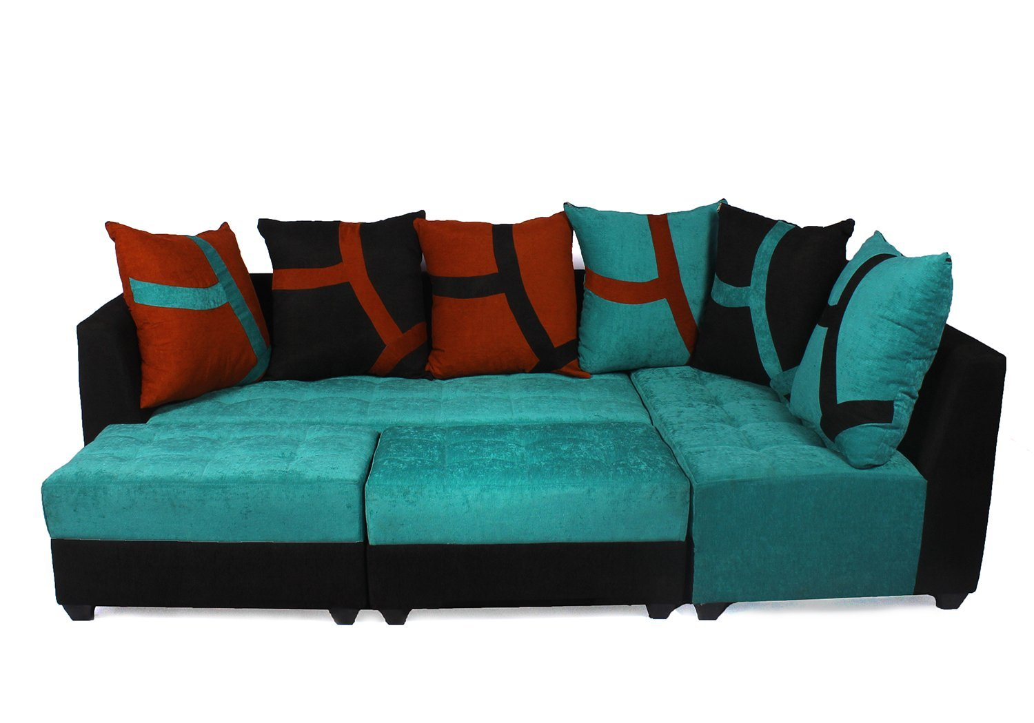 Guarented Upholstered L-Shape 5 Seater Sofa Cum Bed (3+D+2P) Sofa Set | Multiple Colors Available