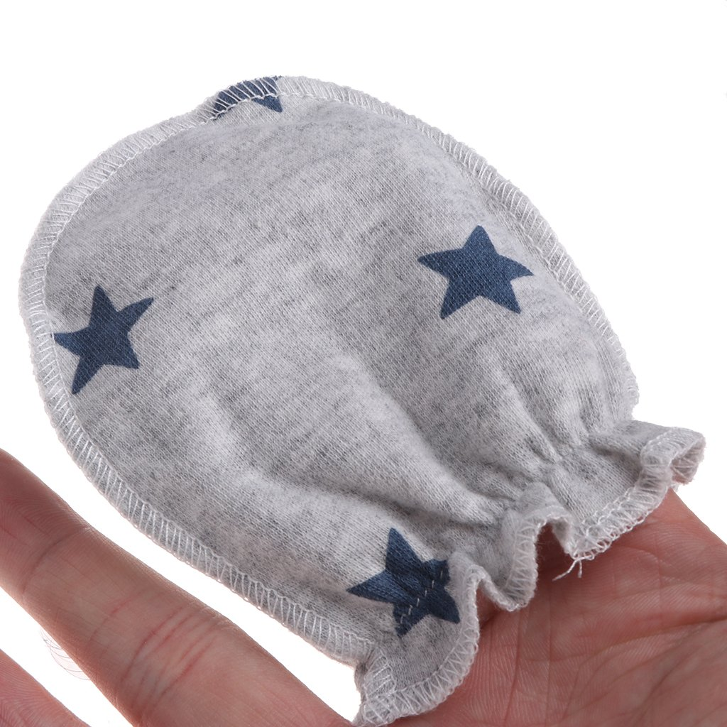 Newborn Protection Face Cotton Scratch Mittens Autone 3Pairs Fashion Baby Anti Scratching Gloves