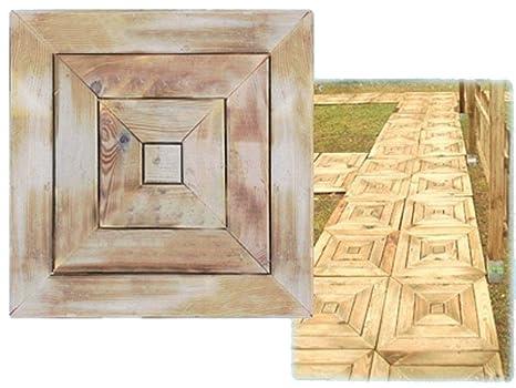 Pavimento quadroni pz in legno trattato mattonelle
