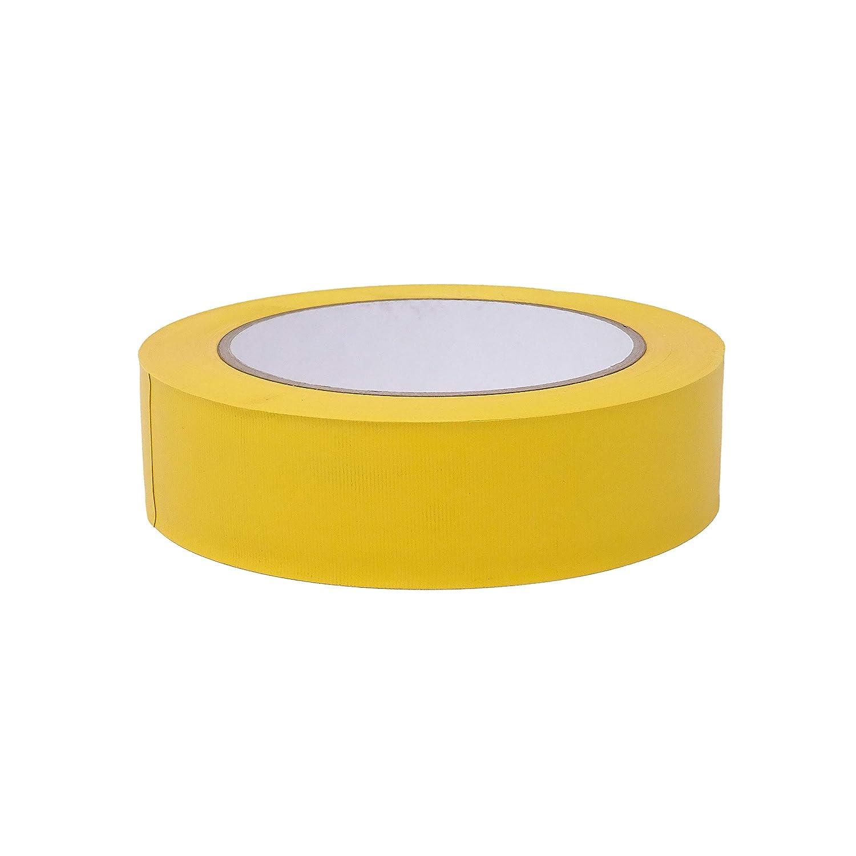 1 Rolle - 30 mm breit - gelb gerippt versch gws Putzband PVC gerippt ⭐ Abklebeband von Hand rei/ßbar L/änge: 33 m Maler-Schutzband in Profi-Qualit/ät Farben /& Breiten