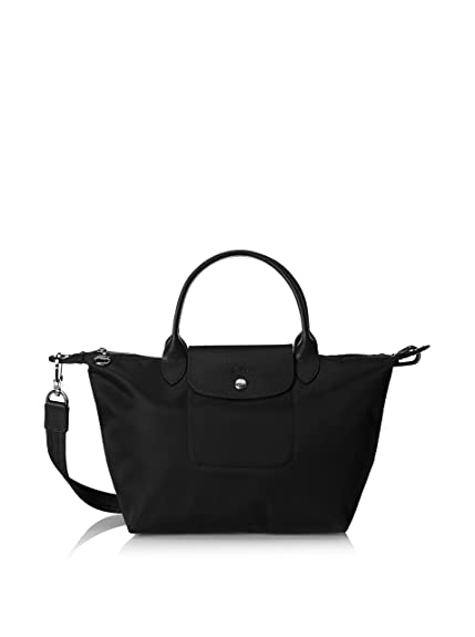 Longchamp Le Pliage Cuir Top Handle S (L1512737) (Black