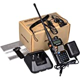 Baofeng UV-5RA+PLUS - Radio Walkie Talkie, color negro