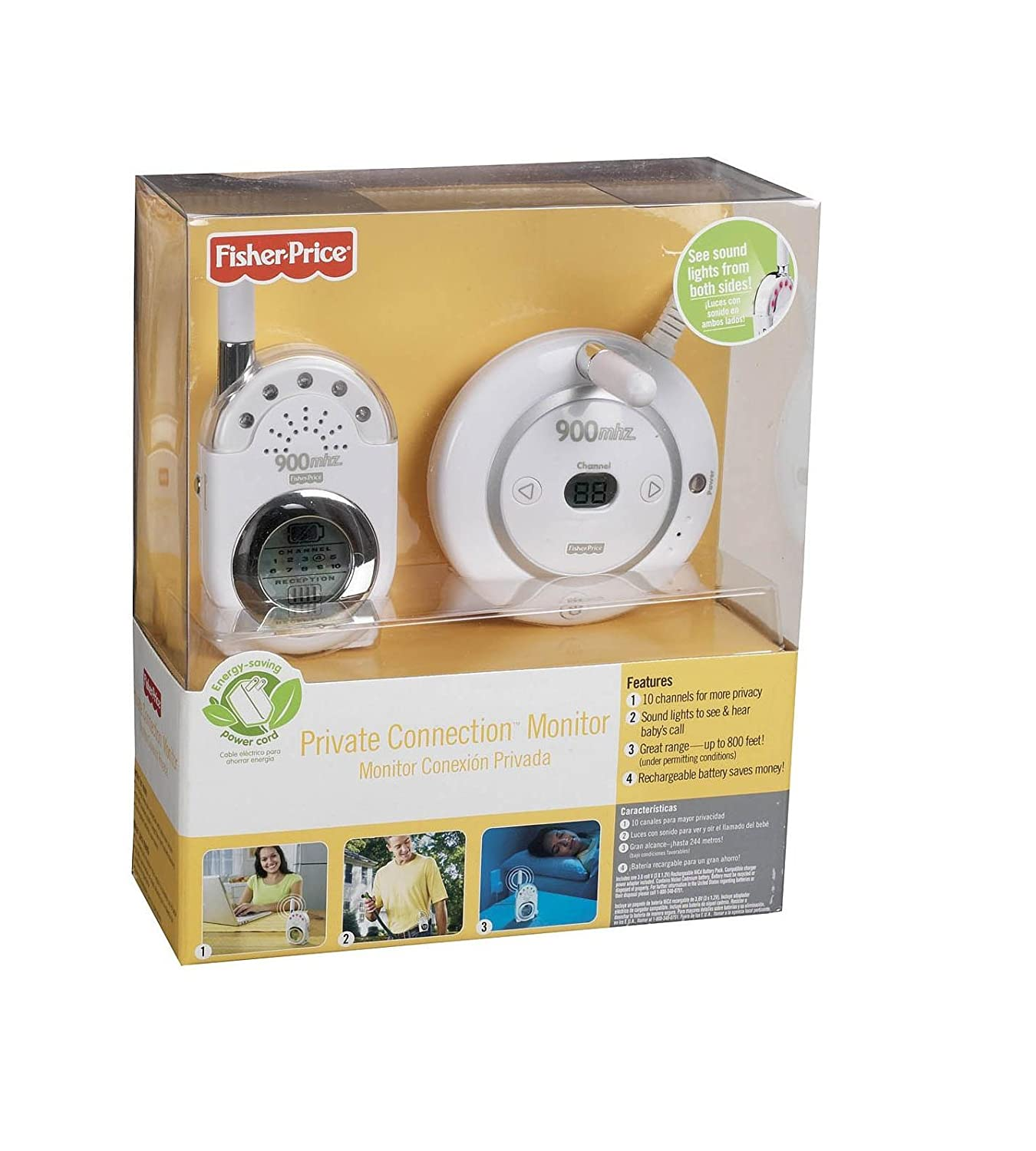 Amazon.com : Fisher-Price Private Connection Monitor in White : Baby Audio Visual Monitors : Baby