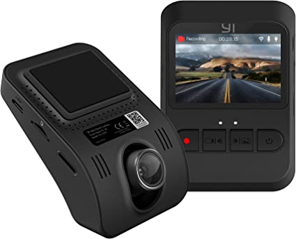 "140/° FOV Black 2.4/""Screen Sony Sensor Superb Night Vision Phone App YI Nightscape Dash Cam 1080p Smart Wi-Fi Car Camera with Heat-Resistant Supercapacitor"