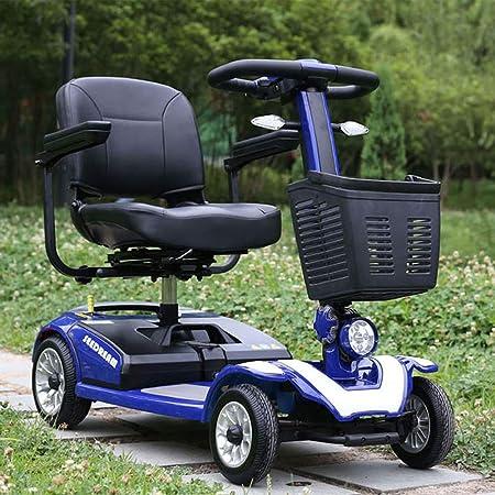 Silla de ruedas eléctrica de cuatro ruedas, Scooter clásico para adultos, Bicicleta plegable para discapacitados Scooter móvil Potencia Scooter móvil plegable Avanzada Inteligente Móvil eléctrica,Blue: Amazon.es: Hogar