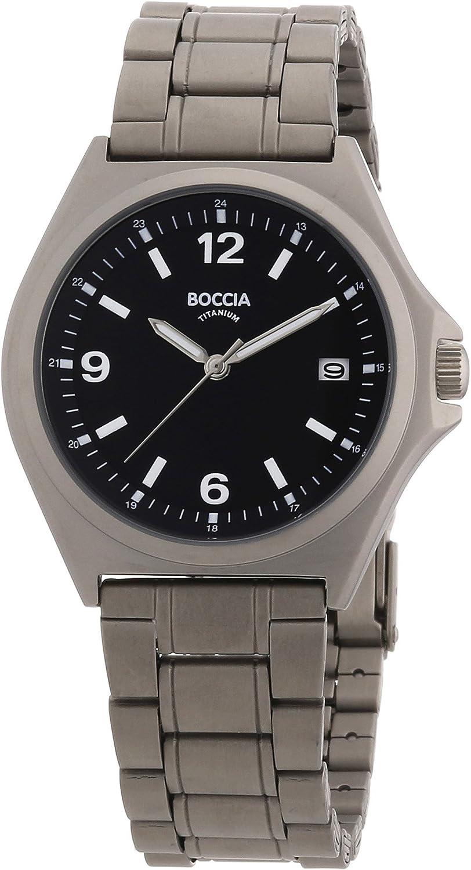 Boccia Men s Quartz Watch 3546-01 with Metal Strap