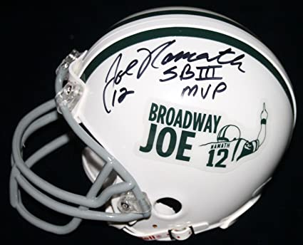 best website 52cb6 a32c6 Amazon.com: Joe Namath Autographed Mini Helmet - Super Bowl ...