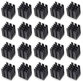 Easycargo 20 piezas Kit disipador impresora 3D + Cinta adhesiva conductora térmica, disipador térmico para enfriar los módulos controlador motor paso ...