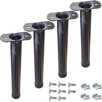 Juego de 4 patas para somier de láminas, de 45 cm, patas de hierro con doble perno compatible con Eminflex: Amazon.es: Hogar