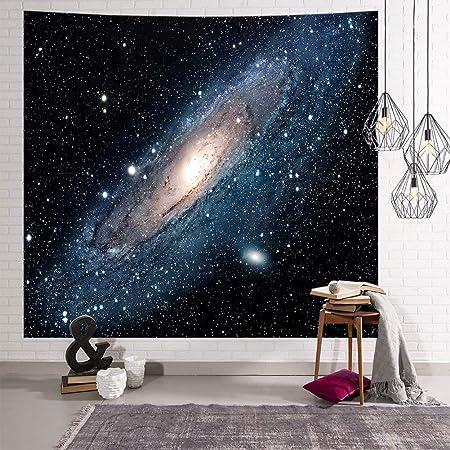sala de estar o dormitorio decoraci/ón para dormitorio tela para colgar en la pared Tapestry B Psychedelic Constellation Galaxy Universe 150x130cm poli/éster