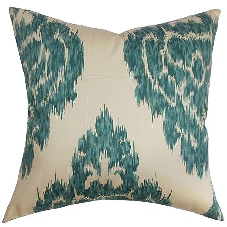 The Pillow Collection Ajayi Ikat Pillow, Teal