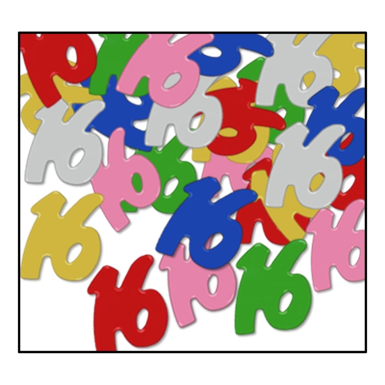 Party Central Club Pack of 12 Multi-Colored Fanci-Fetti 16'' Celebration Confetti Bags 0.5 oz.