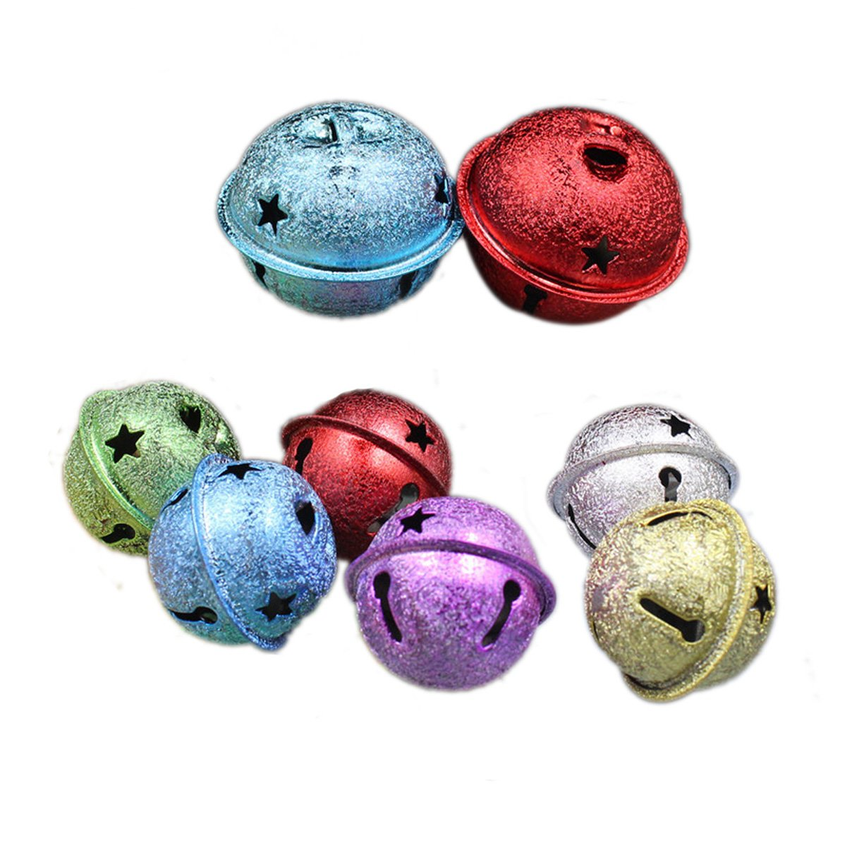 Aimira colorato Large Jingle Bells for DIY Crafts Christmas Decoartion 30-pack, Mixed, 24 mm