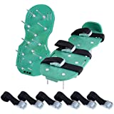 """Ohuhu Lawn Aerator Shoes, Spikes Aerator Sandals with Metal Buckles for Aerating Your Lawn or Yard (12"""" (L) x 5"""" (W))"""