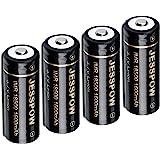 18500 Rechargeable Batteries, JESSPOW IMR 18500 Rechargeable Li-ion Battery 1600mAh 3.7V [ for Flashlight, Solar Garden Light